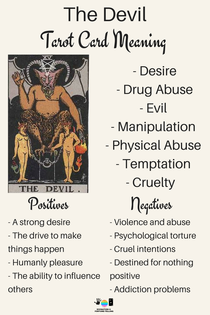 Making love with the devil hurts Future Tarot Meanings The Devil Lisa Boswell