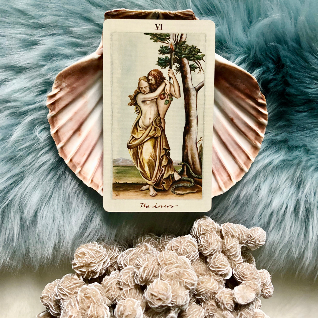 On many Tarot card decks, The Lovers depict Adam and Eve; the first married couple.