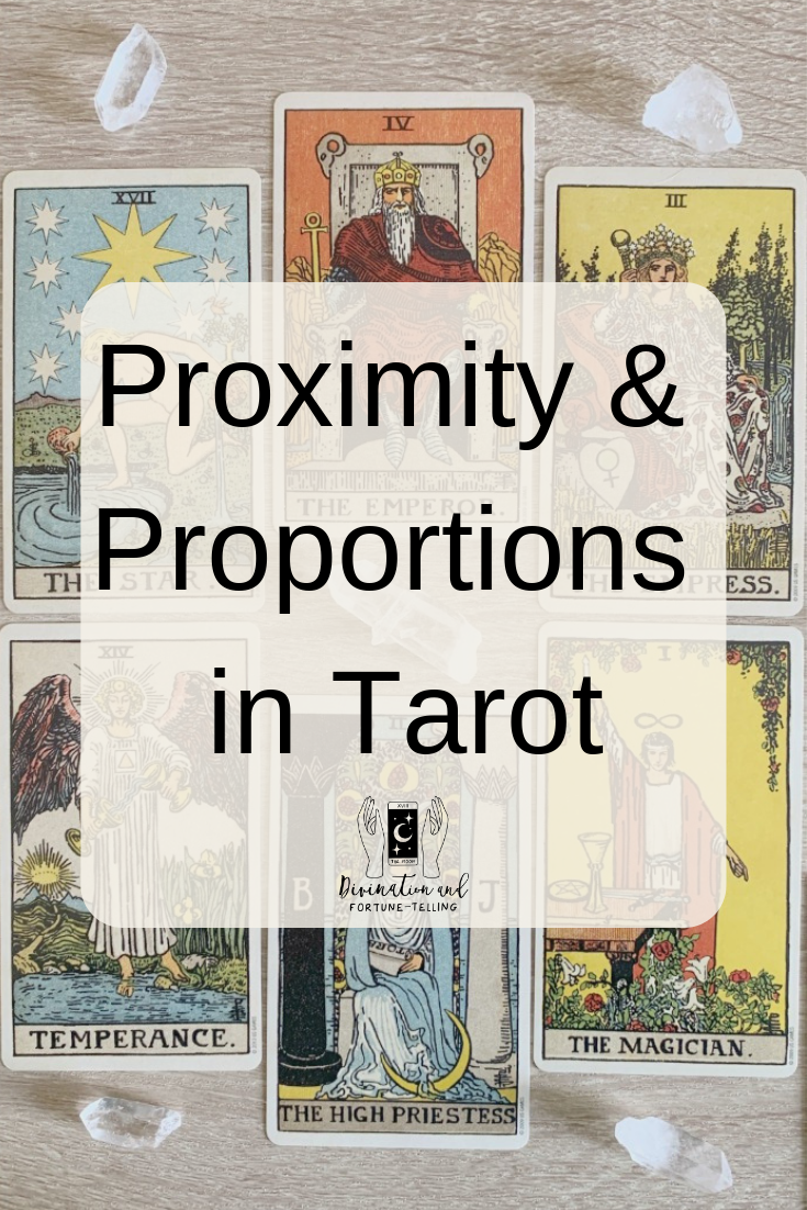 Art Illustrations: When do special number combinations apply in Tarot? How close together do cards have to be to count as significant? In this post, we look at how to read proximity and proportions in Tarot, when they matter and when they do not. If you would like to improve your Tarot, this post will get you receiving more detail in your Tarot card readings.
