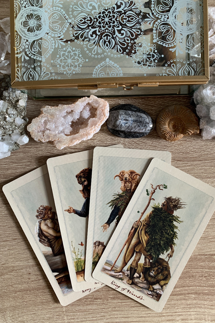 The meaning of getting multiple or lots of Kings in a Tarot card reading spread. Here is the interpretation for Kings love and work readings..png