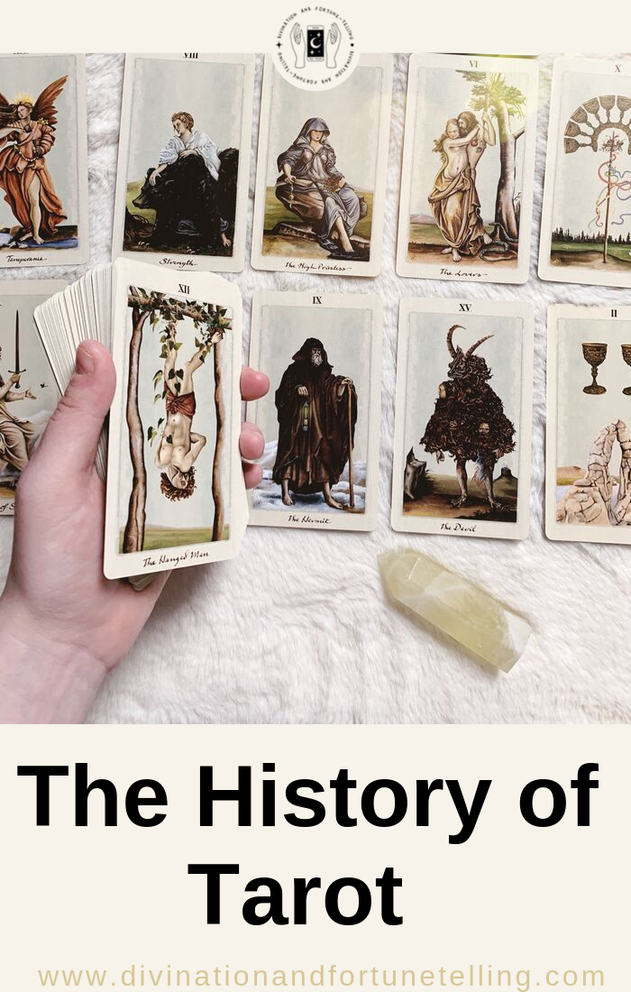 Art Illustration: What is the history of Tarot cards? When were Tarot cards created? Did Romany Gypsies bring cards from Egypt? Did Tarot start as a game and develop from playing cards? What is the timeline of Tarot and how do characters like Etteilla, De Gebelin, Rider, Waite and Smith fit into it?