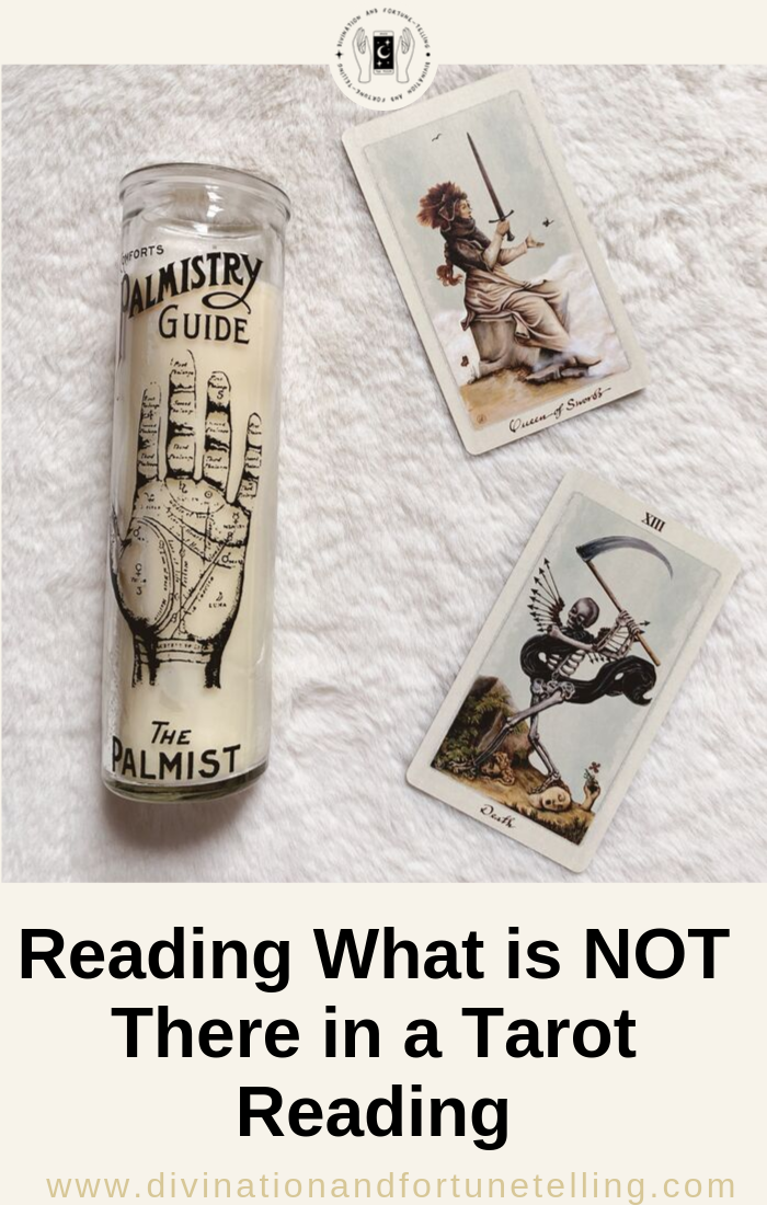 Art Illustration - Reading what is not there in a Tarot card reading. Card deck is The Pagan Otherworlds deck.png