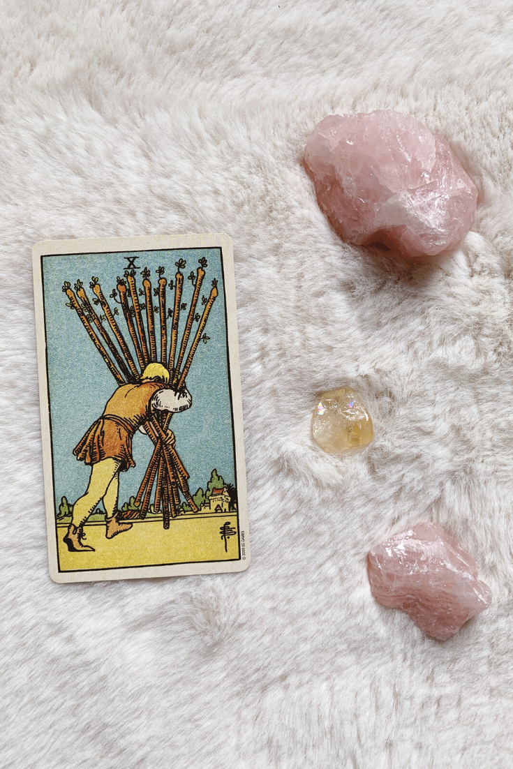 Future Tarot Meanings: Ten of Wands — Lisa Boswell
