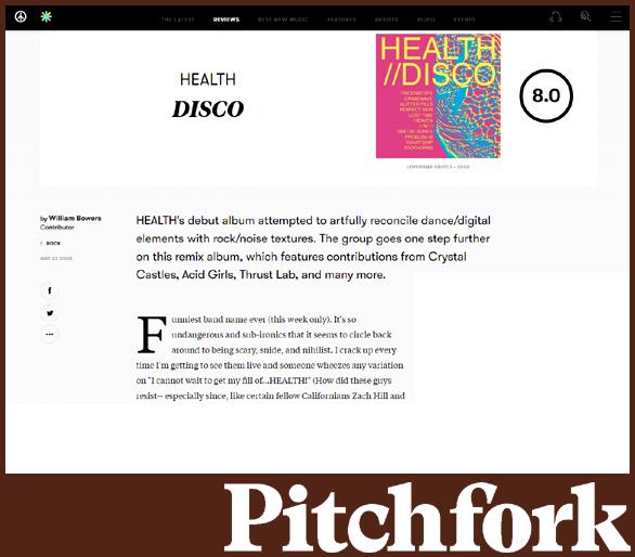 HEALTH | PITCHFORK