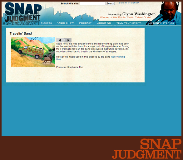 RED WANTING BLUE | SNAP JUDGMENT