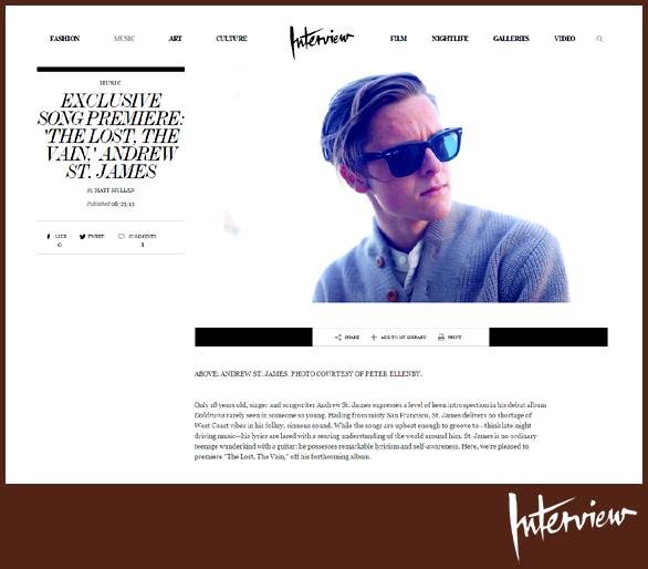 ANDREW ST. JAMES | INTERVIEW