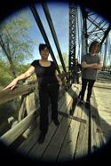 BLUNDERBUSST  (L-R): Jen Scaffidi, Carolyn Gates, Carson Cessna. Photo credit: Chris Carnel.  Click for hi-res.