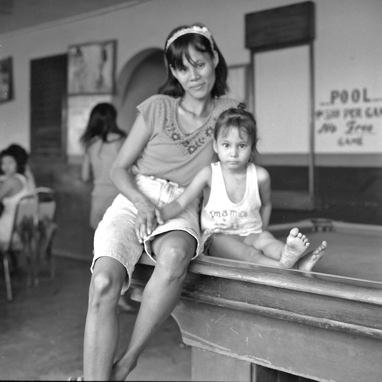 Woman and Child, Open Bar, Subic City, 1990