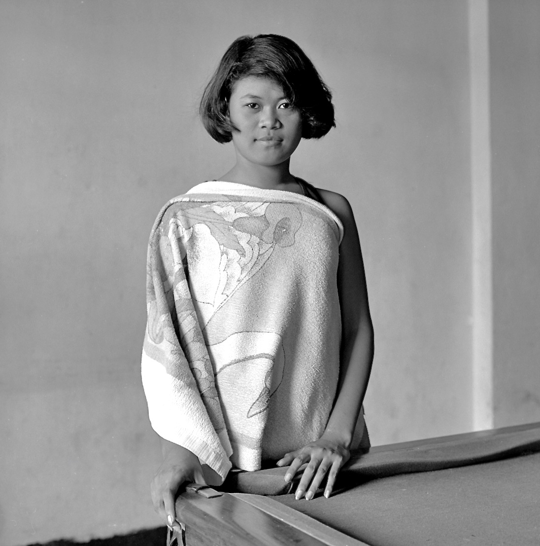 Girl in Towel, Pool Table, Subic City 1989