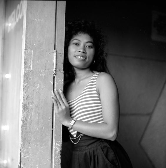 In Doorway, Subic City 1991