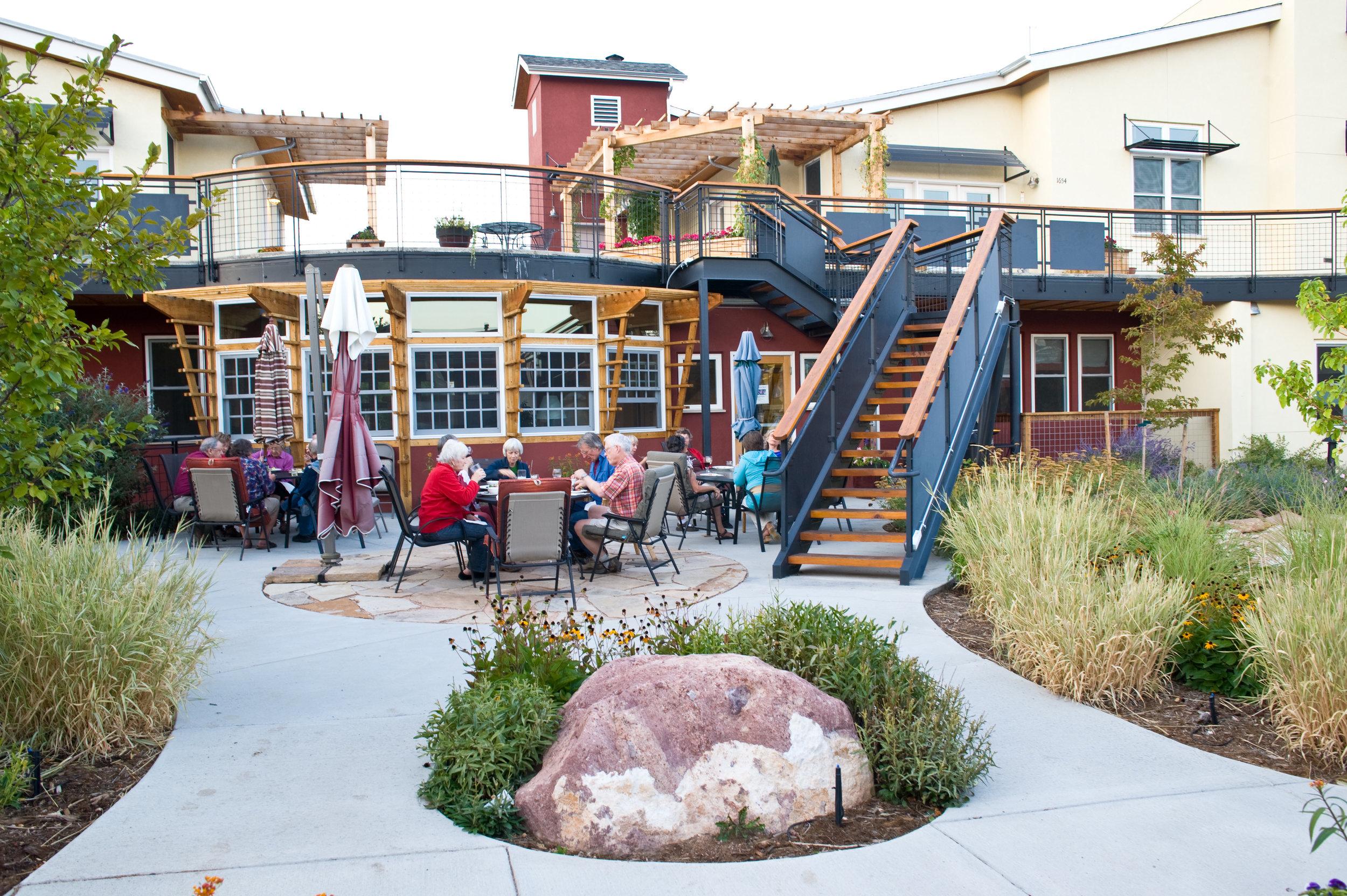 Silver Sage Cohousing, Boulder, CO. Architecture by McCamant & Durrett Architects
