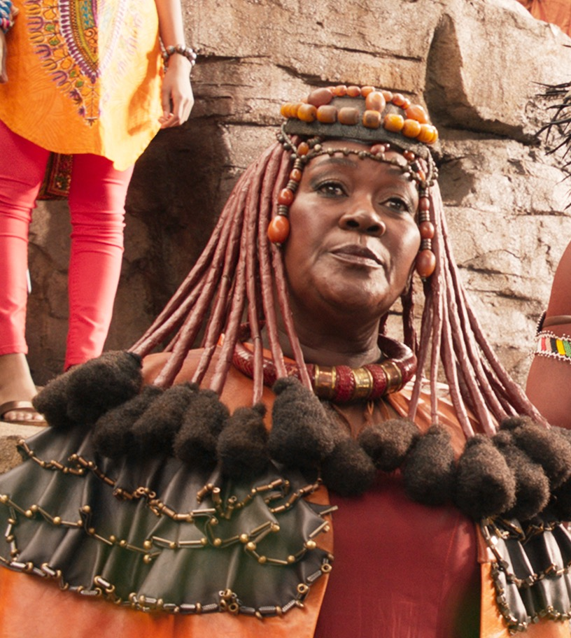 Mining Tribe Elder Connie Chiume. Marvel Studios   Wise Women with a seat at the table
