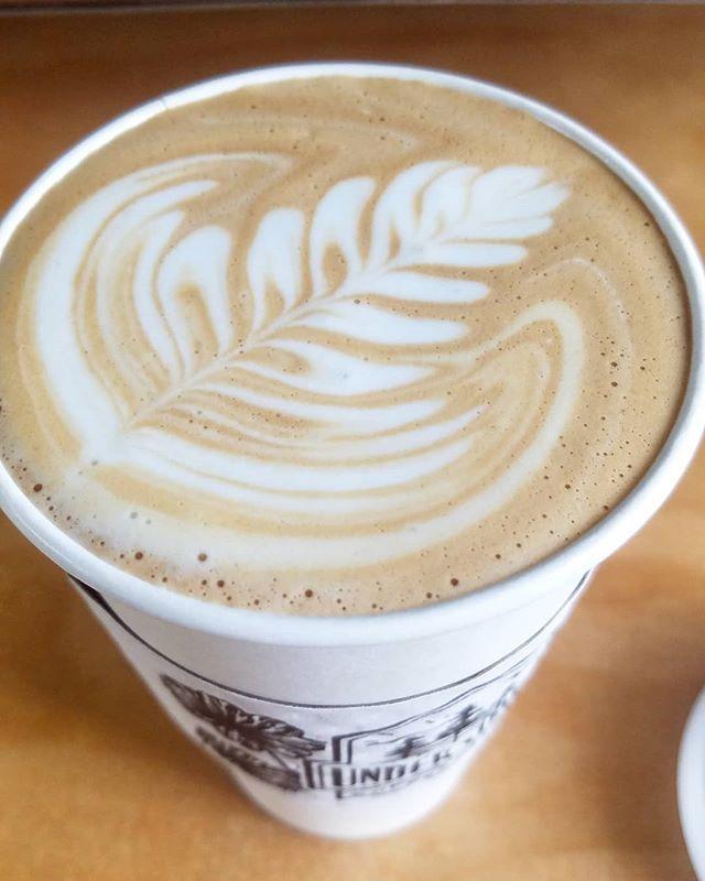 Monday morning pour. 16oz vanilla latte, half sweet