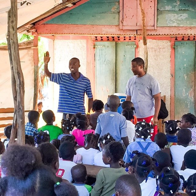 Ministering to children in Haiti