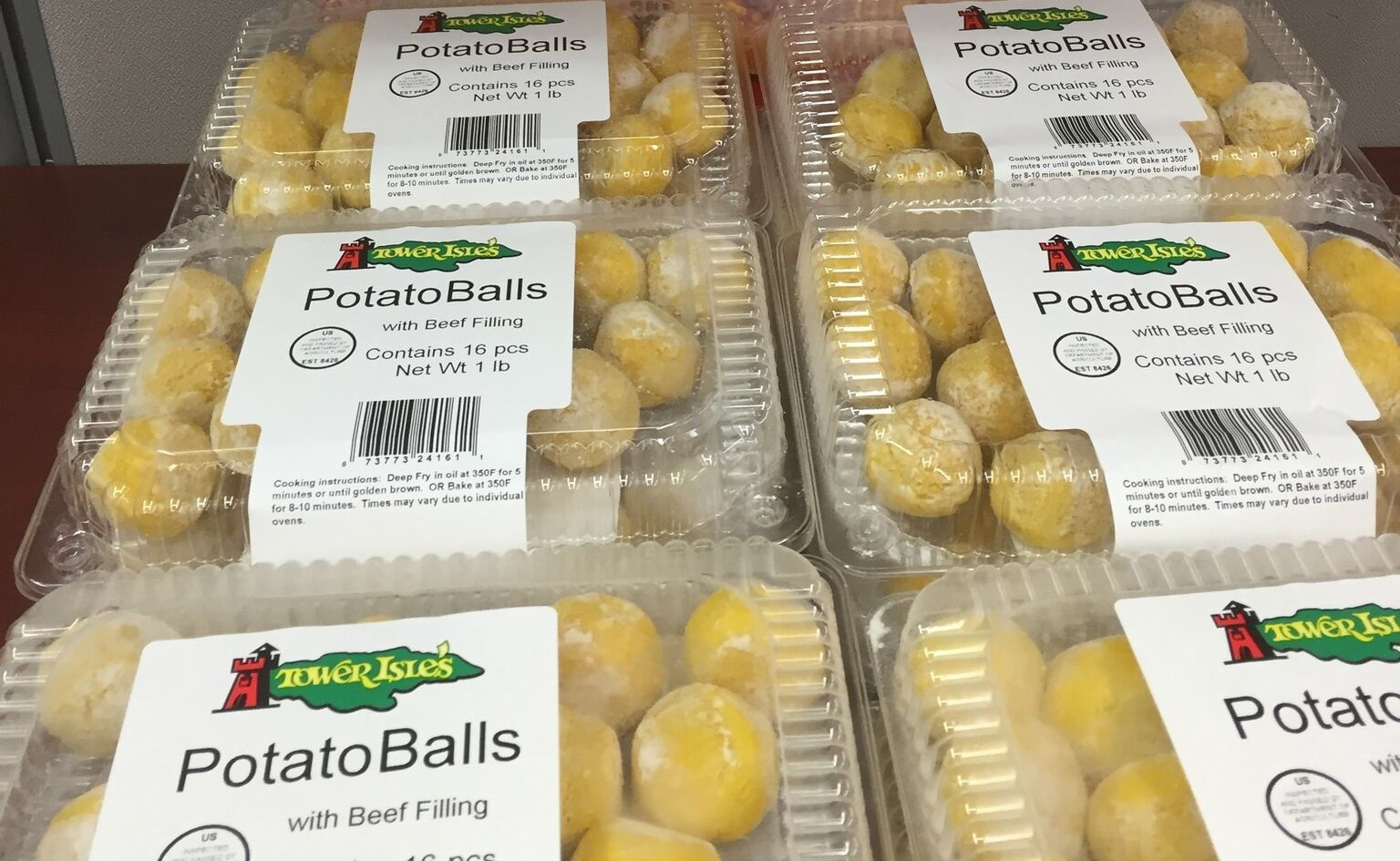 Our mini potato balls are made with the the same beef we put in our Original Jamaican Style Patties. They can be private labeled for individual retailers and are sold in packs of 96 and 16.