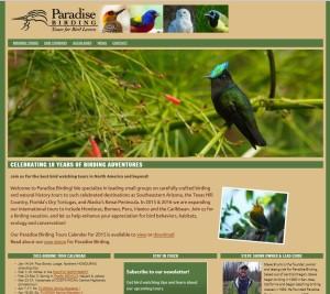 Website for Paradise Birding