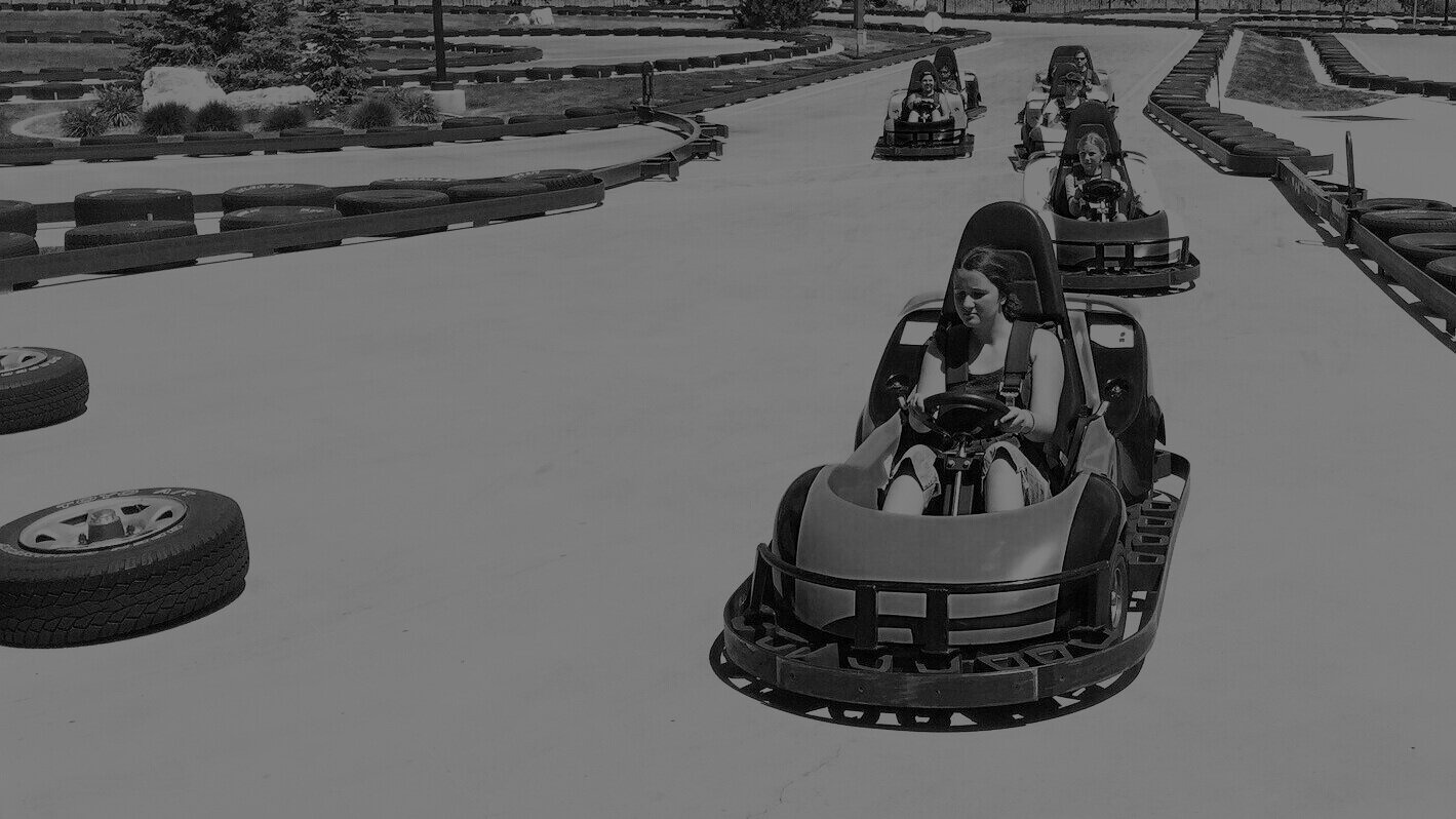most go-karts' top speed is only 25 mph. -