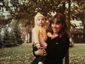 Lindsey with her momma circa 80's