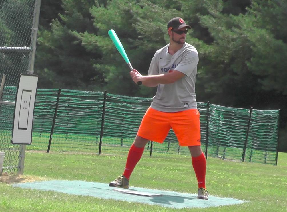 Tournament MVP Jarod Bull (Yaks) in the batter's box.