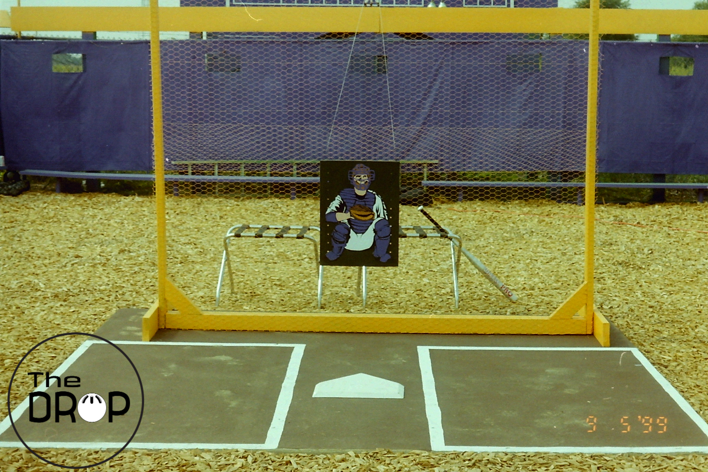 The Johnny strike zone - shown hanging from the backstop at famed Lakeside Park in the fall of 1999 - was the forefather of the current target strike zones that are so prevalent in today's game.