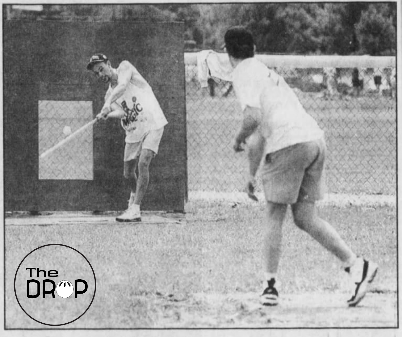 Kevin Priessman is credited with popularizing – if not outright inventing – the Hole strike zone. Here it is in 1994 during league play in Cincinnati.