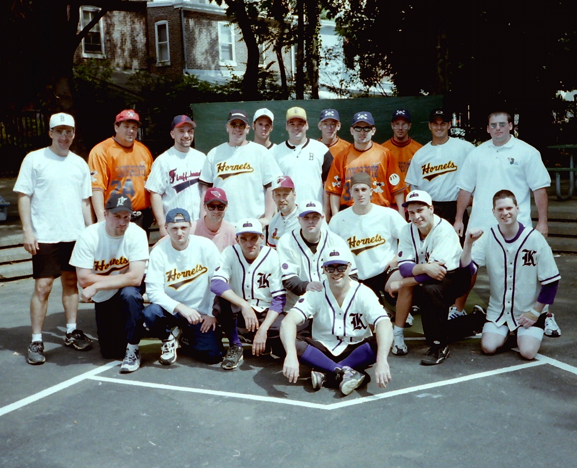 If a team was to be considered one of the best during the 1990's,  they had to play and win at Pat Pone Park. This picture - taken at Pat Pone just before the final day of the 1998 Summer Showdown - includes such illustrious teams as In the Box, Georgia Longshotz, Brown Hornets, Fluffheads, PA Cards, and Lakeside Kings.