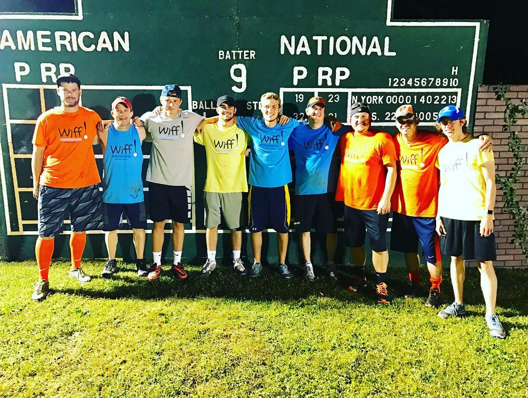 Castelli (third from left) at the 2017 Wiffleball Bonanza in Ligonier, PA.