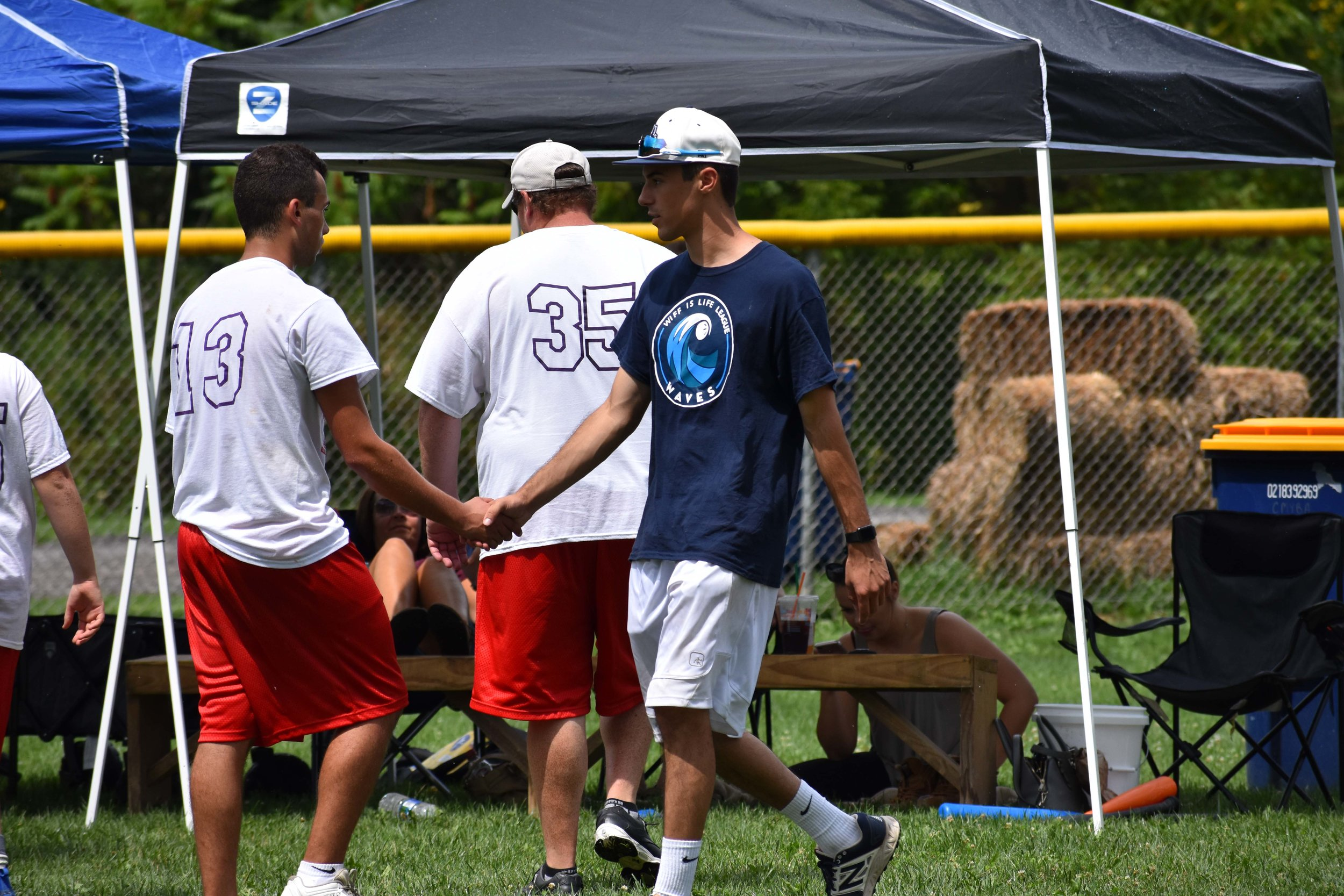 Gino Joseph (Left) and Austin Berger (Right) shake hands following the 3rd place game.