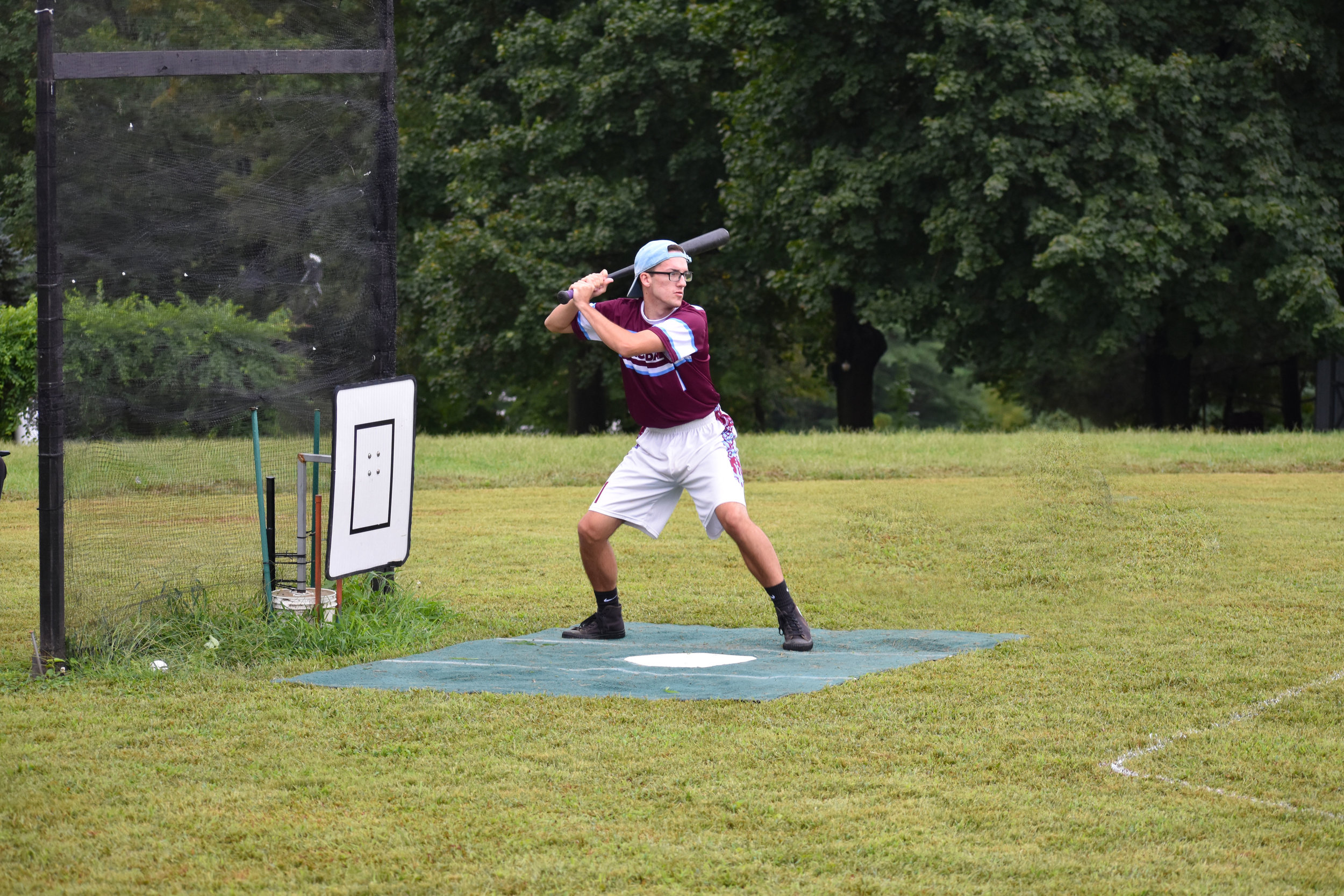 Dylan Harshaw of the Longballs digs in during a semi-final series game.