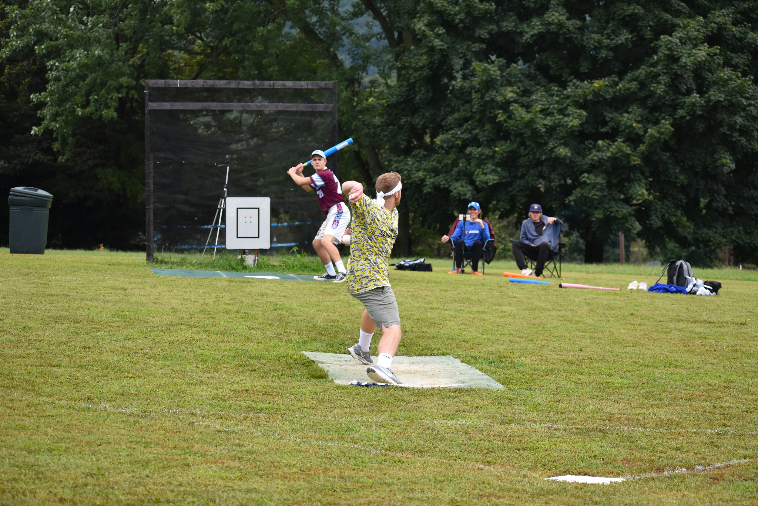 Ray Lutick of the Lemon Heads - shown here pitching to Colin Pollag - was named tournament MVP.