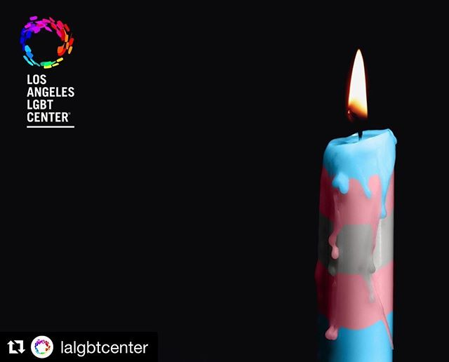 Today we honor and remember members of the trans community we've lost to hate and intolerance. We will continue fighting alongside organizations like @lalgbtcenter for the rights of our trans brothers and sister until they too are healthy, equal, and complete members of society. . . . . . #LGBT #Lesbian #Gay #Bisexual #Transgender #TransgenderDayofRemembrance #TDOR