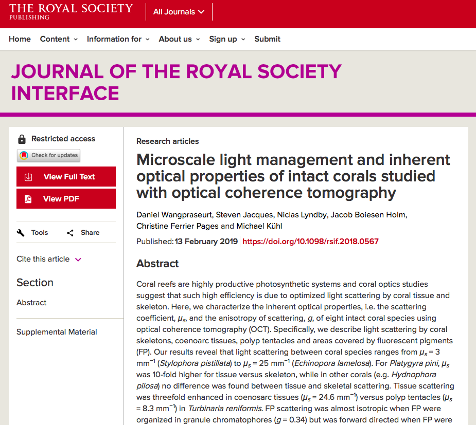 FINALLY OUT!    NEW PAPER IN JOURNAL OF THE ROYAL SOCIETY INTERFACE     Link
