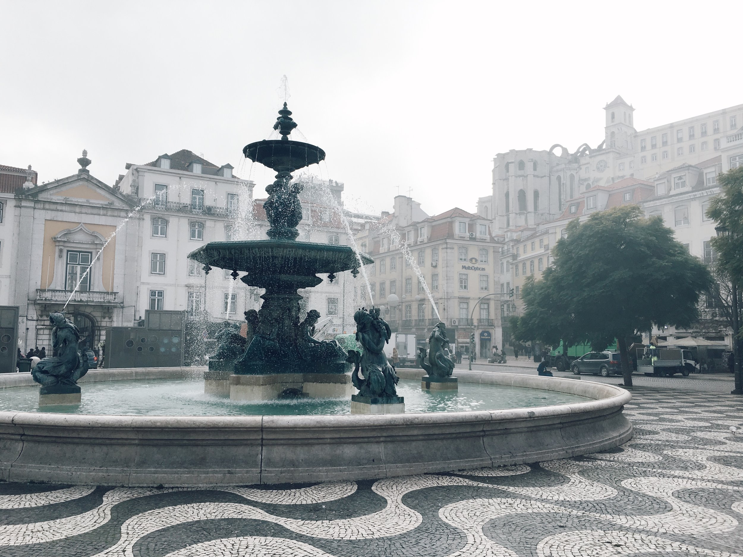 Rossio Lisboa Winter