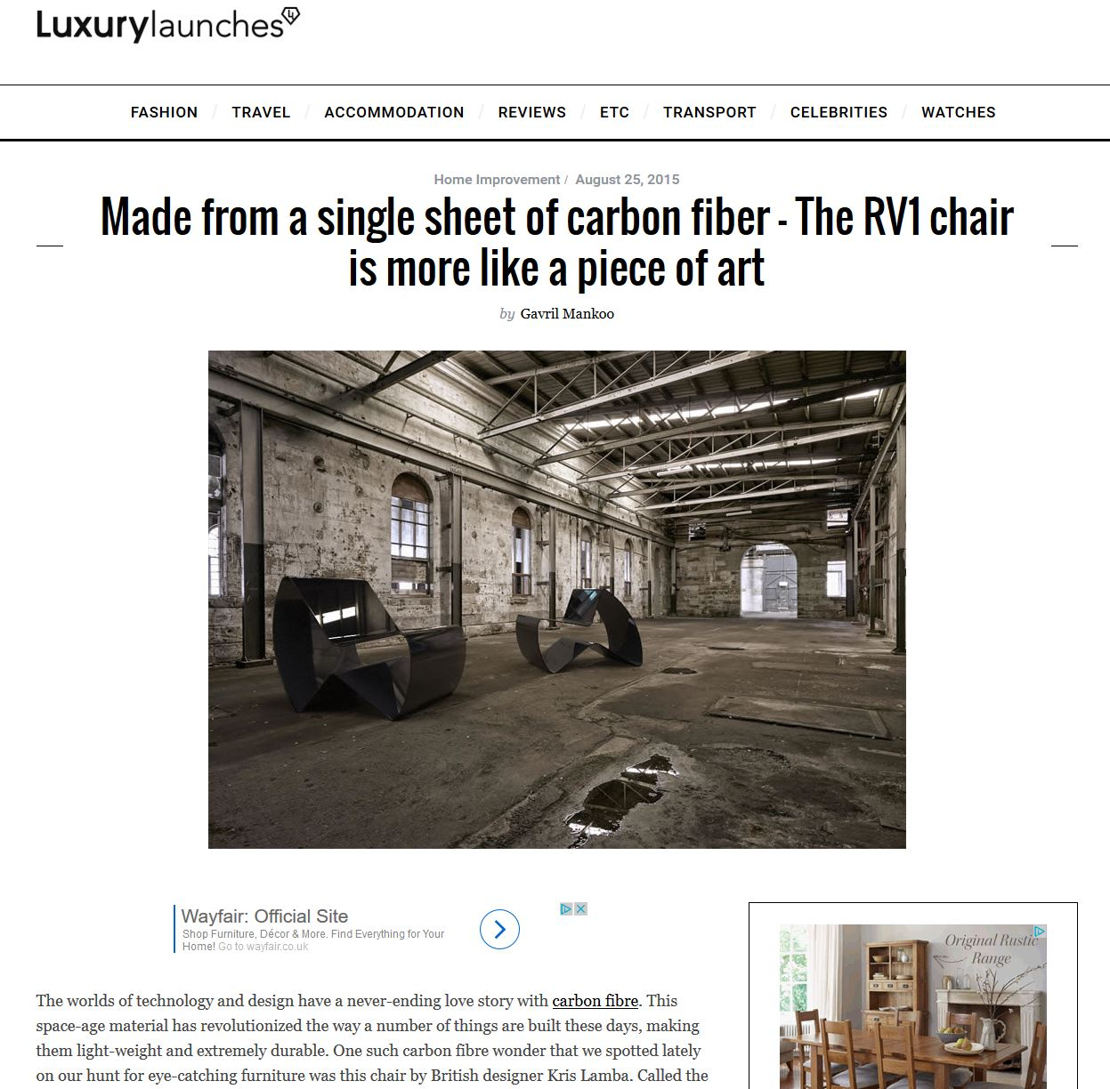 Luxury Launches - Feature
