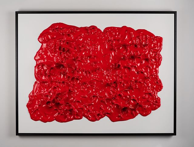A recent piece titled 'Blood Stimulus'. You may have seen this exhibited recently, but if not, I'd be very interested to hear what you can see in it. . . 140cm x 110cm  #contemporarysculpture #wallsculpture #contemporaryart #modernsculpture #conceptualart #abstract #sculpture #abstractpainting