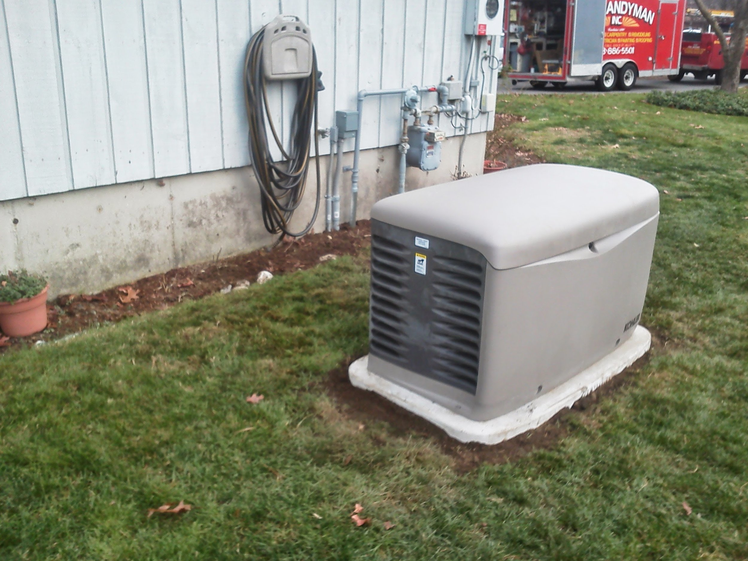 We also install whole house generators