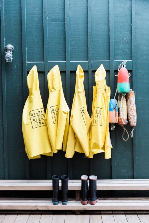 Most resorts hook guests up with rain gear
