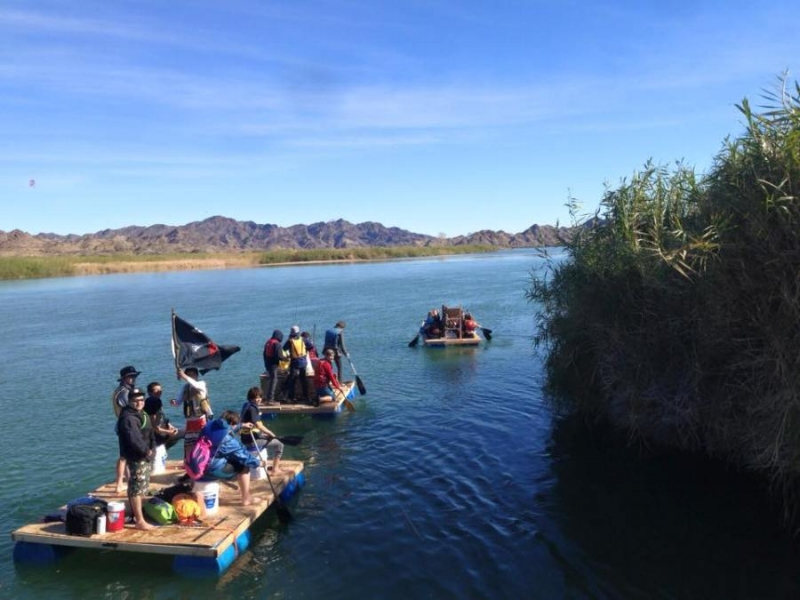 These intersession students built rafts and floated and camped on the river for 3 days (with life jackets on!).