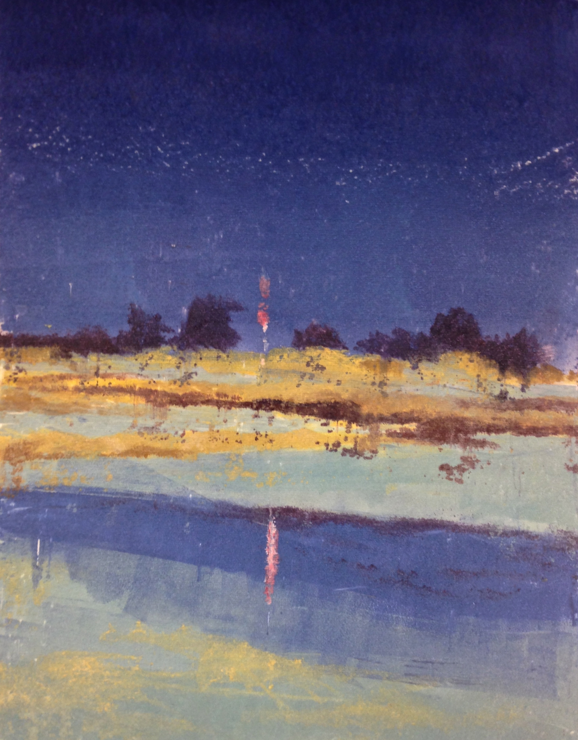 Reflections at the Cape   water based monotype on paper