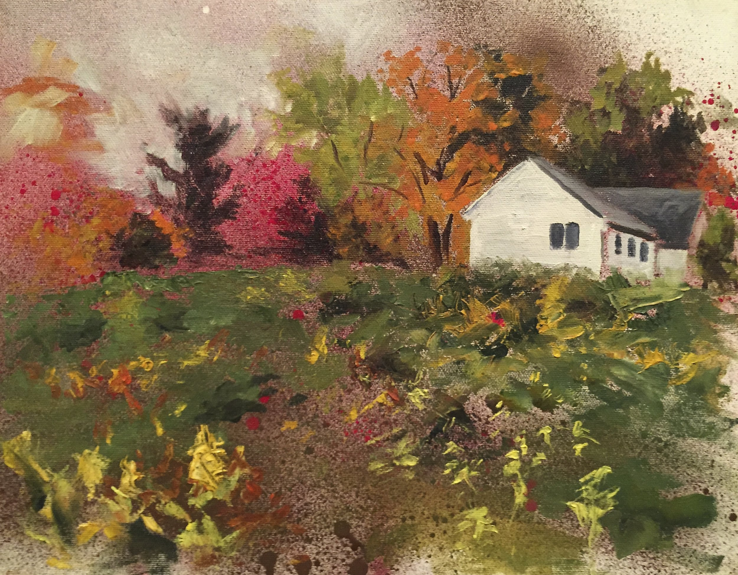 Fall Approaches    oil on canvas