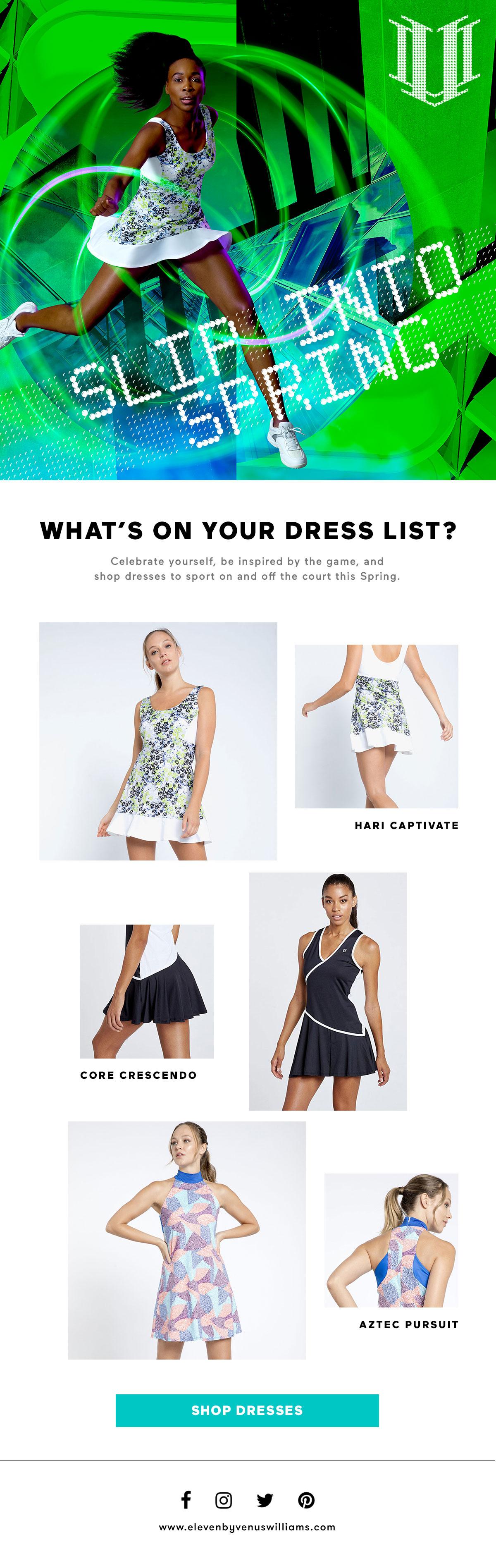 Tennis Dress Email Blast