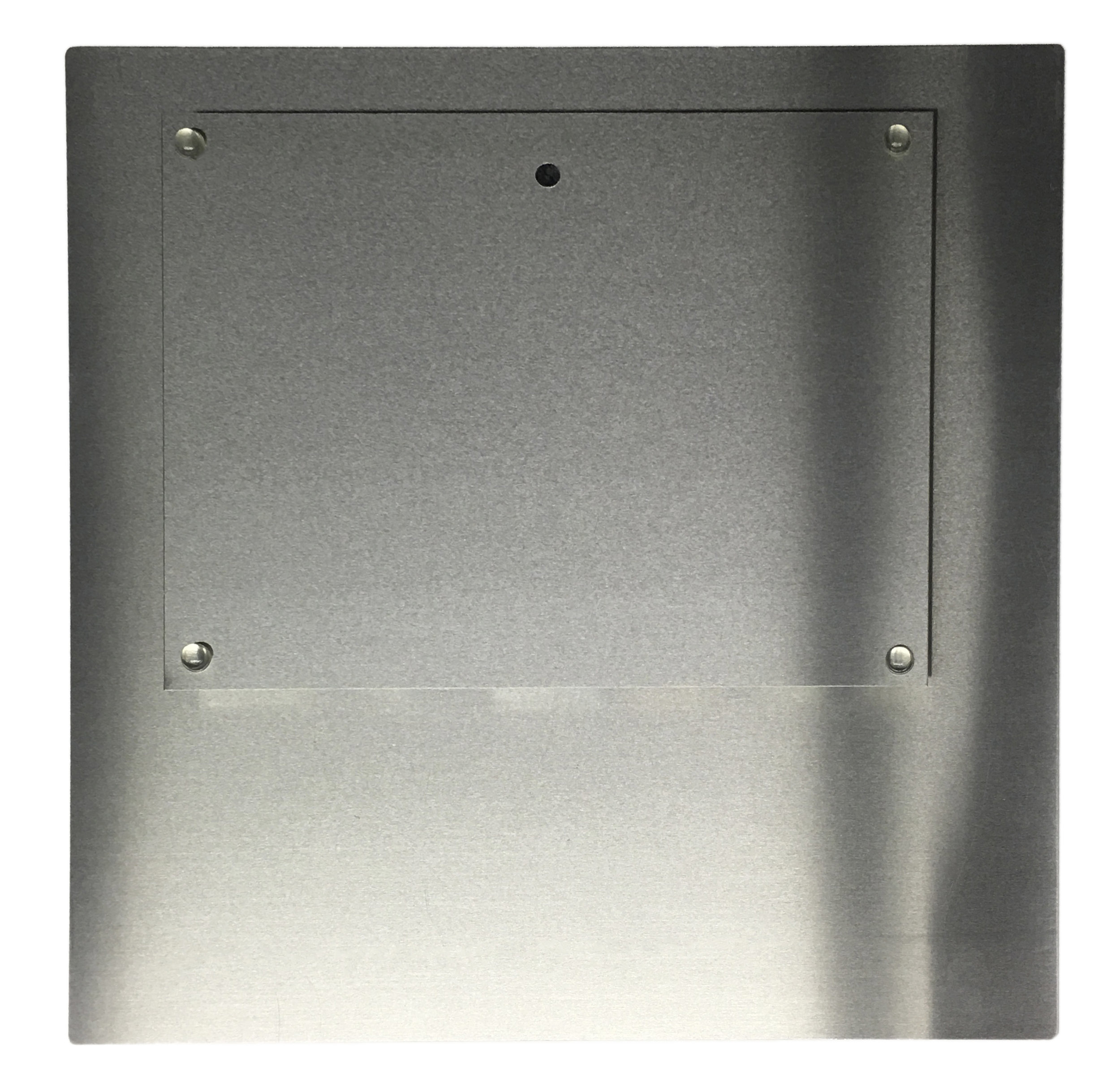 """Back of print hanging system on metal prints Print is ½"""" offset from wall"""