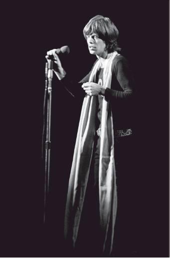"""Mick Jagger, Madison Square Garden, 1969"" © Michael Friedman"