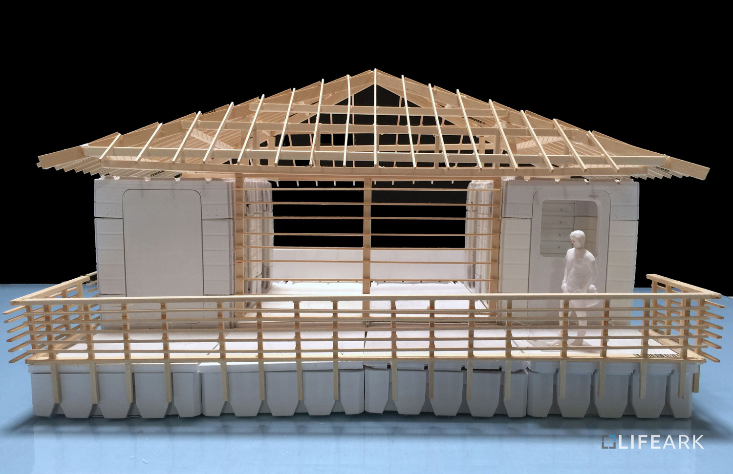 LifeArk Amazon Typical Dwelling Model: Wooden components will utilize local material, skill and labor.