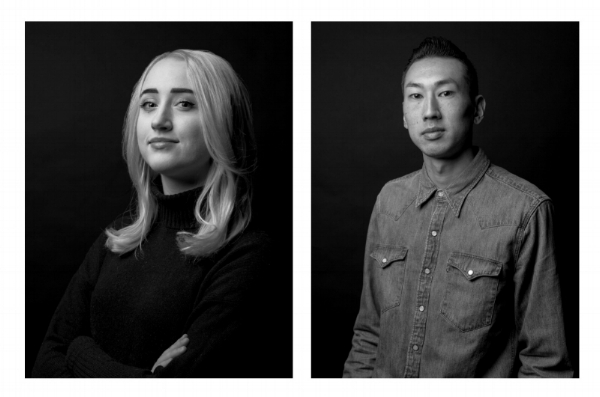 Ogilvy and Mather designers Lucia Vaughan and Sho Watanabe