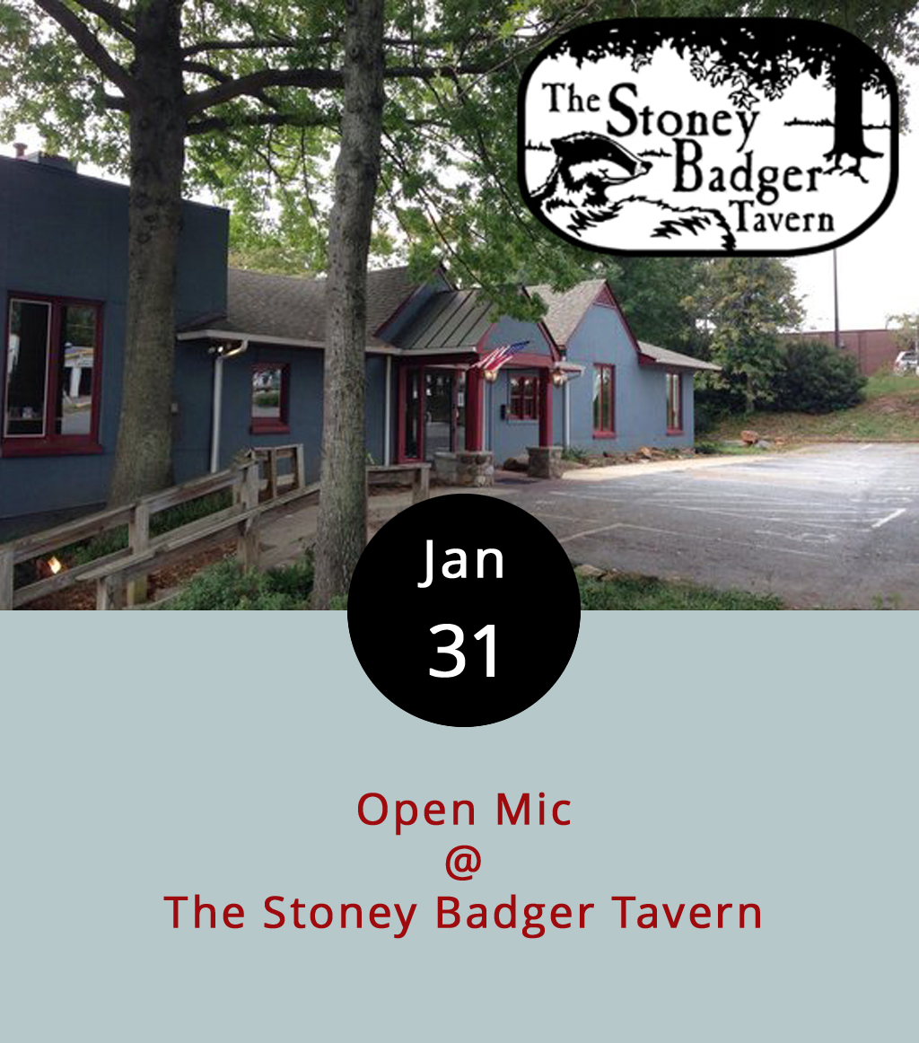 Every Tuesday evening, round about 10 p.m., the stage at the Stoney Badger is for whomever should happen to show up. That's right, it's an open mic extravaganza. Ben Delaurentis of Steal the Prize is usually the host and one of the featured performers. Country dude Zack Burnette, and Americana crooner Josh Walker are also usually there to play. And  LynchburgDoes.com 's editor/publisher has been known to put in an appearance every now and again. There's no cover, and it usually goes until the plug gets pulled, sometime after 1 a.m.  The Stoney Badger is located at 3009 Old Forest Rd.; call (434) 384-3004 for more info, or click  here .