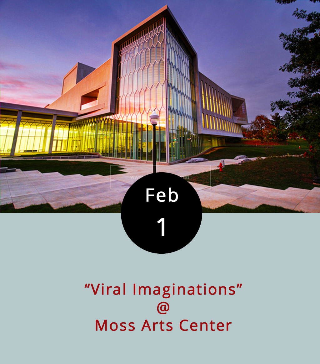 "It's said that life imitates art. But, does that apply to art about infectious diseases? That's the subject of ""Viral Imaginations,"" a panel discussion among experts from Duke University, Virginia Tech, and the Carilion Clinic at the Moss Arts Center in Blacksburg this evening from 7:30-9 p.m. They'll be delving into literary representations and media perceptions of disease through the lenses of literature, medicine, human-wildlife relationships, and science and technology, and exploring the modern fascination with apocalyptic narratives like zombie viruses and superbugs. They'll also look at the actual science of infectious diseases, and how that science filters into popular culture. Not recommended for hypochondriacs. Just kidding. The Moss Arts Center is located at 190 Alumni Mall in Blacksburg. The event is free, but seats can be reserved  here . Call (540) 231-5300 for more info."