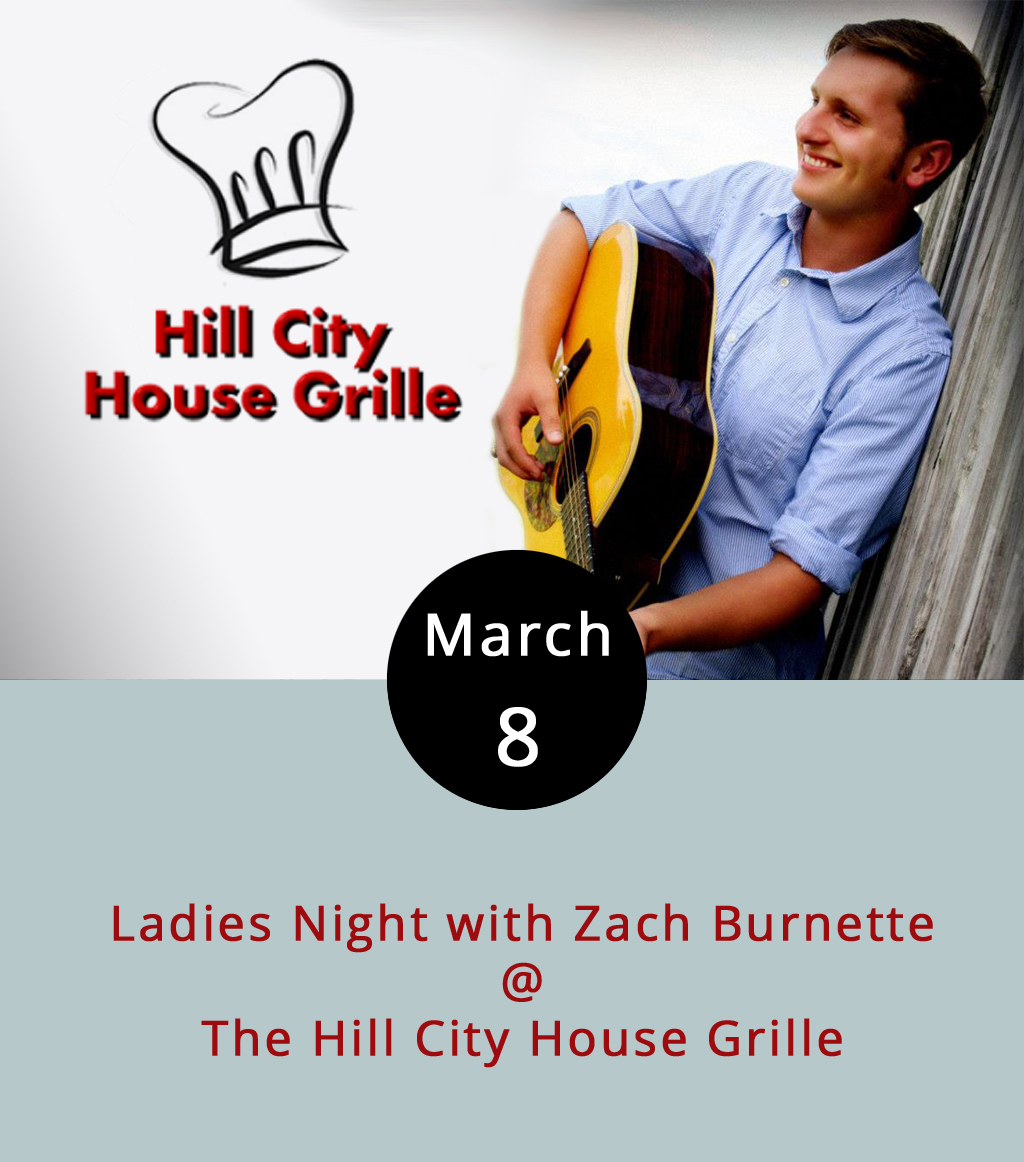 Over the past few years, the  Hill City House Grille  (7001 Timberlake Rd.) has enjoyed not just one but two grand re-openings – one in 2013, and another in 2014. The casual neighborhood hangout is closing once again at the end of this month, and this time it's for good. Turns out the City of Lynchburg bought the property, and is tearing it down in order to built a new on-ramp to 501. So, this week begins a whole series of bittersweet endings, including the last of three Ladies Night performances by country crooner Zach Burnette and his band, which runs from 7-10 p.m. Tomorrow night, it's the final open mic hosted by Lauren Smyk, which also runs from 7-10 p.m., and overlaps quite nicely with a 4-8 p.m. happy hour. On Friday night (see below), it's local singer-songwriter Josh Walker's last Hill City House gig. Call (434) 237-6110 for more info.