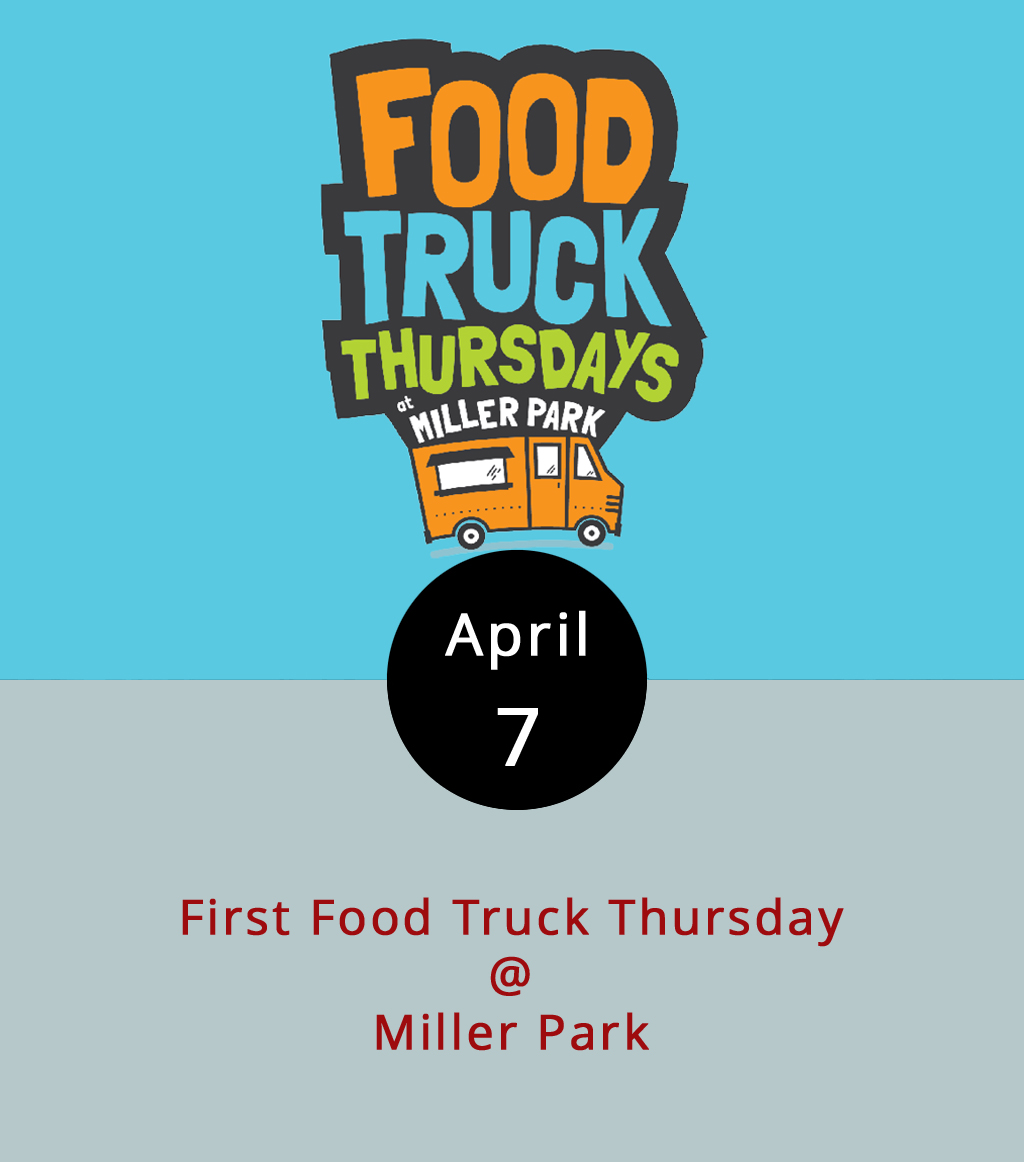 Food trucks may be a year-round thing, but spring is when they really get rolling, with the warmer weather and all. Today marks the annual start of what's become a new local tradition: Food Truck Thursdays at Miller Park (2100 Park Ave.). The idea is pretty simple: from 11 a.m.-2 p.m., a bunch of local food trucks pull into the parking area at Miller Park and get to cooking lunch. There are some tables and chairs and plenty of space for picnicking. So don't be shy about bringing a blanket or a lawn chair or two. Today's featured mobile meal units include Cheesy Rider, Action Gyro, Uprooted, T&E Catering, Pok-E-Joe's BBQ, and Nomad Coffee. For more info, call Lynchburg Parks & Rec at (434) 458-5858, or click  here .