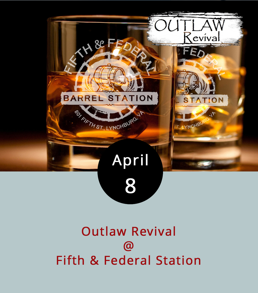 The new barbecue and bourbon joint in town is welcoming the spring weather with its first live music event. Fifth & Federal Station (801 5th St.) has a great space for it, including a large outdoor seating area, which is where we hear they're putting the stage. Today's music is being proffered by Outlaw Revival, a country band who specialize in classics by the likes of Hank, Waylon, and Merle. It runs from 2-6 p.m., but the kitchen and bar remain open until 10. There's no cover. Call (434) 386-8113 for more info, and click  here for the menu.